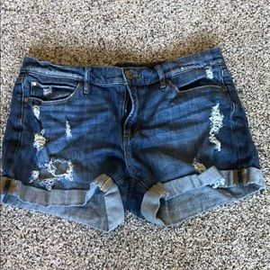 Articles of Society destroyed denim short